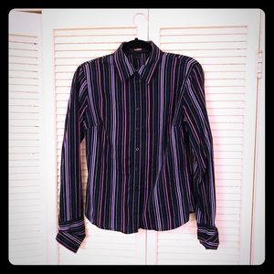🎉$10 SALE🎉EUC southwest 90s pinstripe buttondown